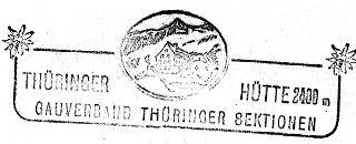 Thüringer Hütte, Hüttenstempel