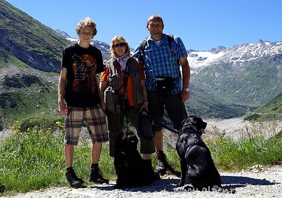 Familie Räther am Gipfel vom Schießeck