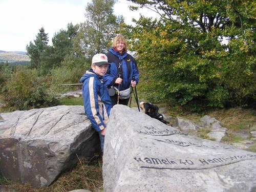 Andrea und Nils Räther am Lippischen Velmerstot