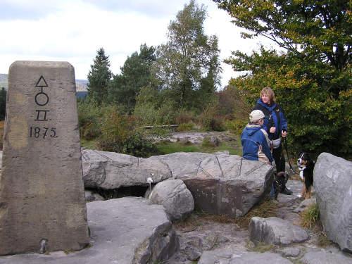 Obelisk auf dem Lippischen Velmerstot