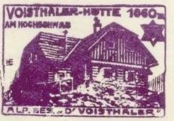 Voisthaler Hütte, Hüttenstempel