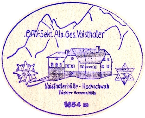 Voistaler Hütte, Hüttenstempel