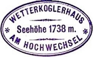 Wetterkoglerhaus, Hüttenstempel