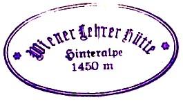 Wiener-Lehrer-Hütte (Hinteralmhaus) - Mürzsteger Alpen