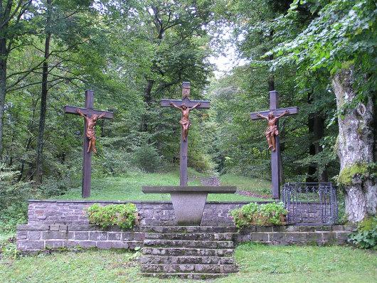Kreuzigungsgruppe auf dem Wilzenberg.
